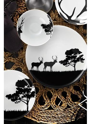 Kütahya Porselen Doğadakiler Serisi 24 Parça Yemek Seti Renkli